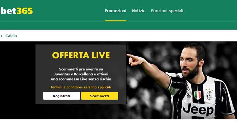 Bet365 Juventus-Barcellona